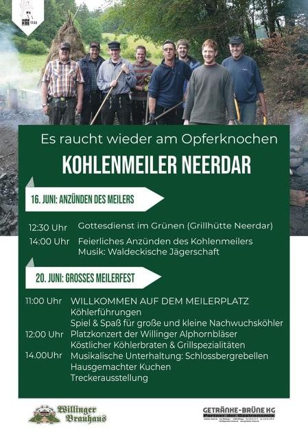 Plakat Kohlenmeiler 2019